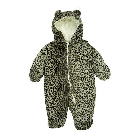 Carter's Baby Girls Heavyweight Cheetah Snow Suit, 6-9 Months , Beige