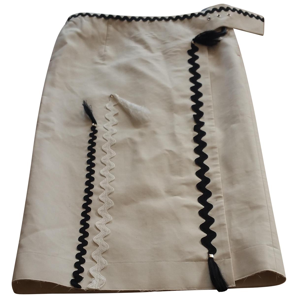 Toga Pulla - Jupe   pour femme en lin - ecru