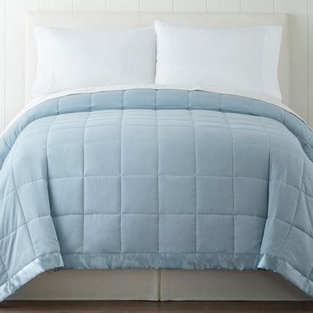Madison Park Newark Microfiber Down-Alternative Blanket, One Size , Blue