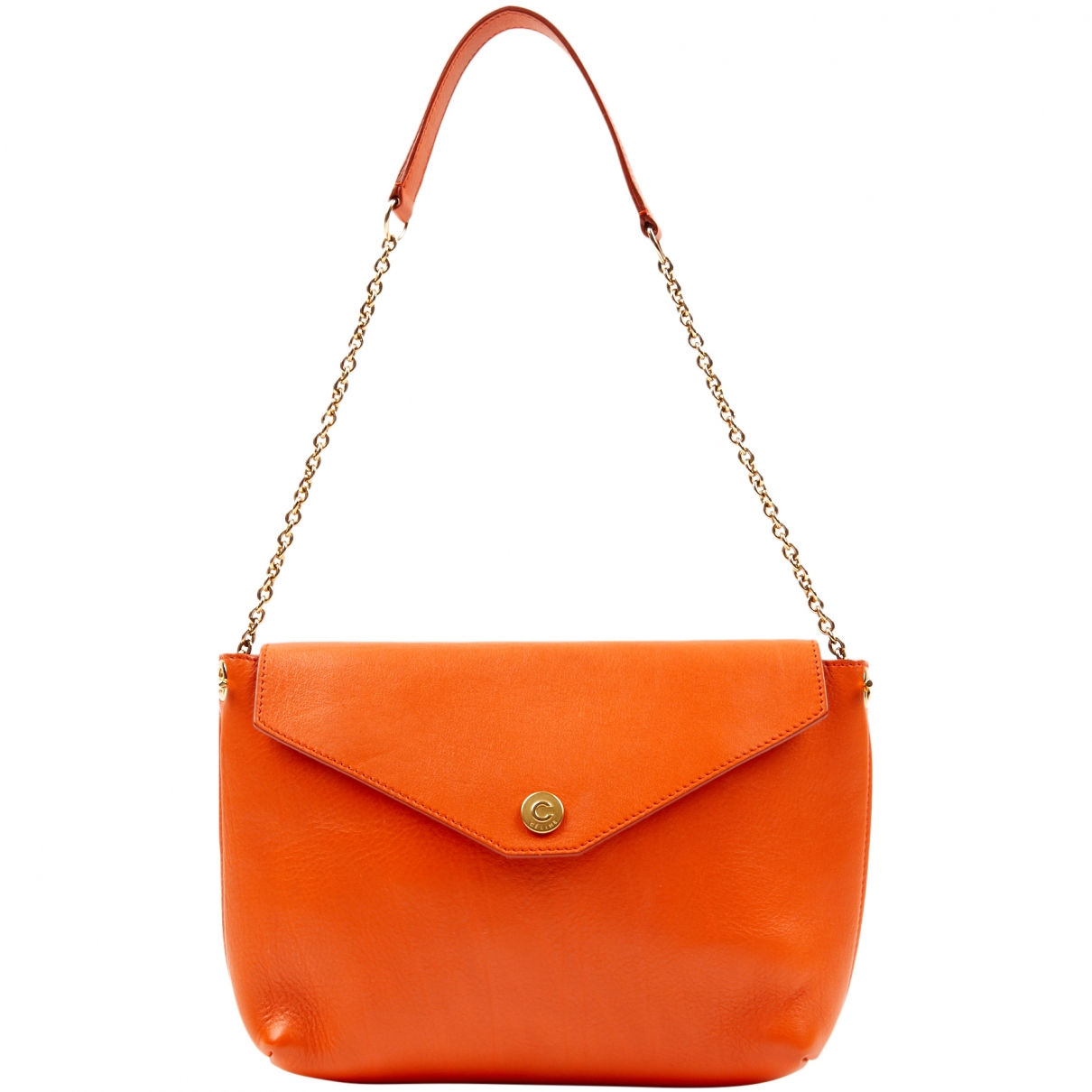 Celine Pocket Handtasche in  Orange Leder