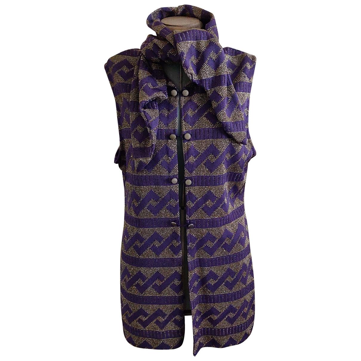 Balmain \N Metallic Silk Knitwear for Women 36 FR