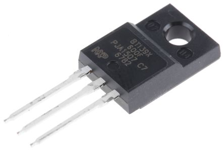 WeEn Semiconductors Co., Ltd BT139X-600F 16A, 600V, TRIAC, Gate Trigger 1.5V 70mA, 3-pin, Through Hole, TO-220F (10)