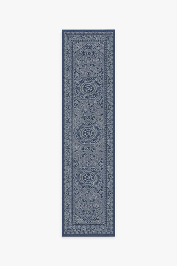 Washable Rug Cover & Pad | Almana Cobalt Blue Rug | Stain-Resistant | Ruggable | 2.5'x10'