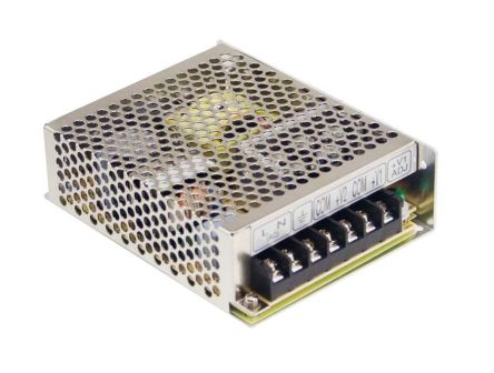 Mean Well , 66W Embedded Switch Mode Power Supply SMPS, 5 V dc, 12 V dc, Enclosed