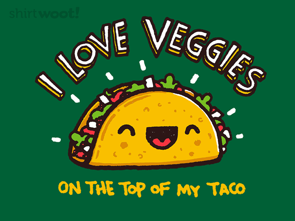 I Love Veggies...on The Top T Shirt