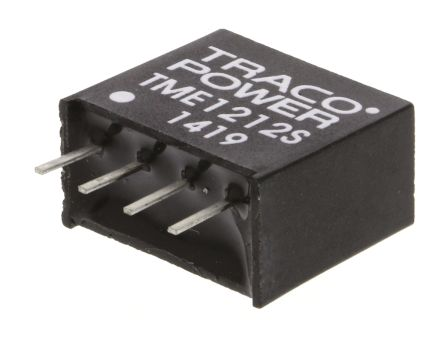 TRACOPOWER TME 1W Isolated DC-DC Converter Through Hole, Voltage in 10.8 → 13.2 V dc, Voltage out 12V dc