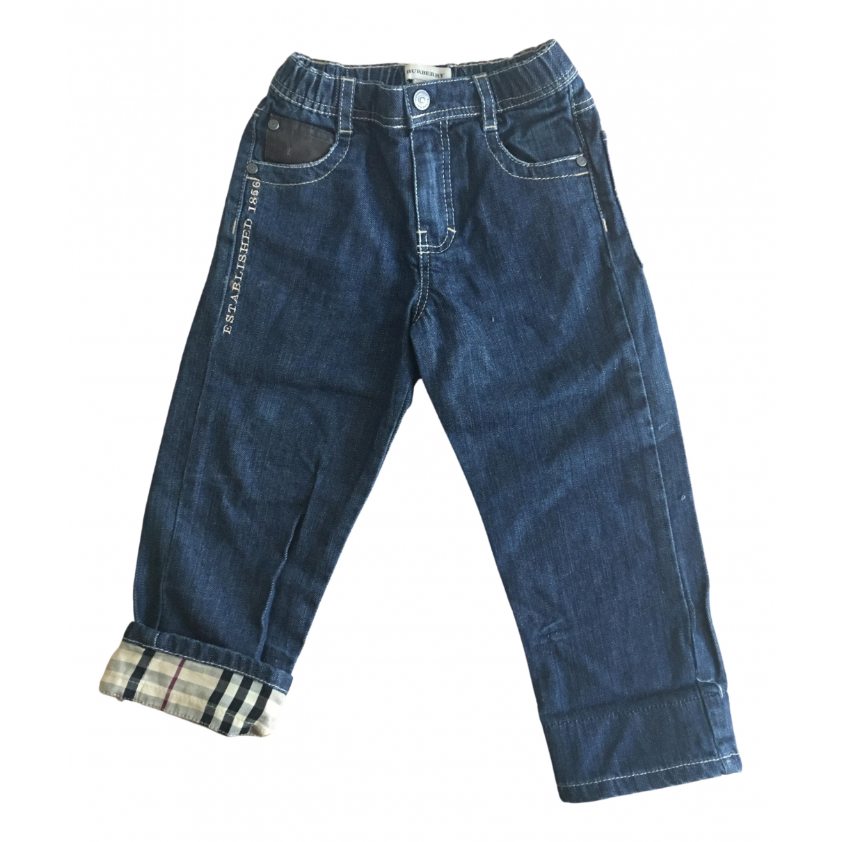 Burberry \N Navy Denim - Jeans Trousers for Kids 2 years - until 34 inches UK