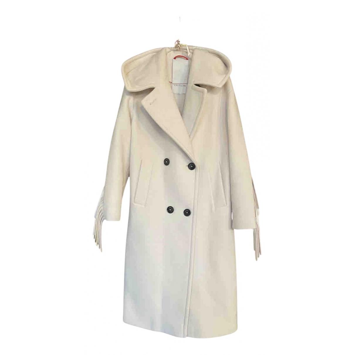 - Manteau Oversize pour femme en laine - blanc
