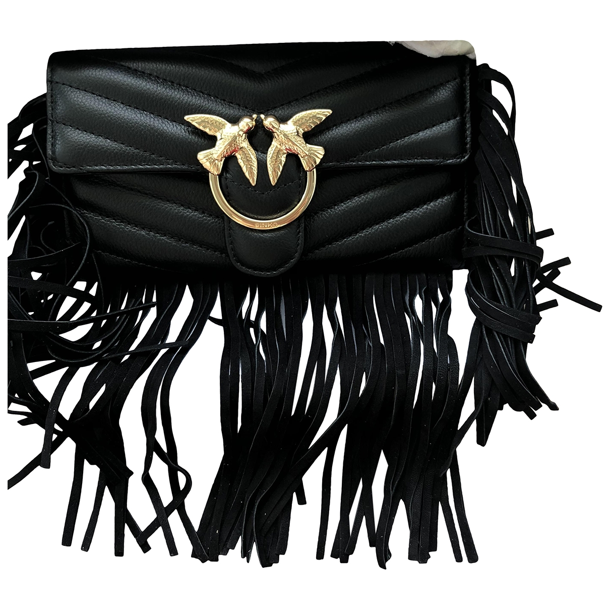 Pinko Love Bag Handtasche in  Schwarz Leder