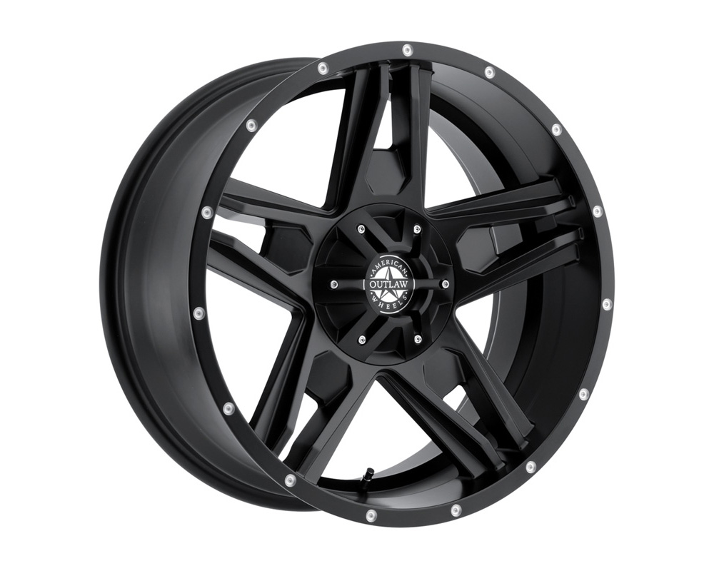 American Outlaw Wheels 124-2950B Lonestar Satin Black Wheel 20x9 5x150 10