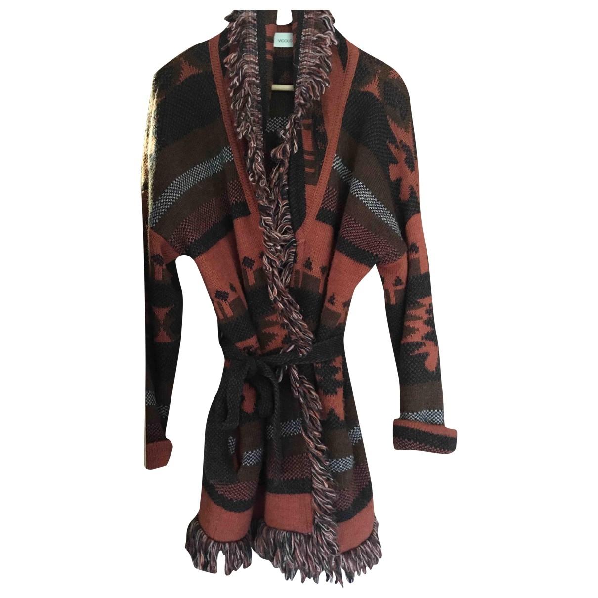 - Veste Hippie Chic pour femme en laine - orange