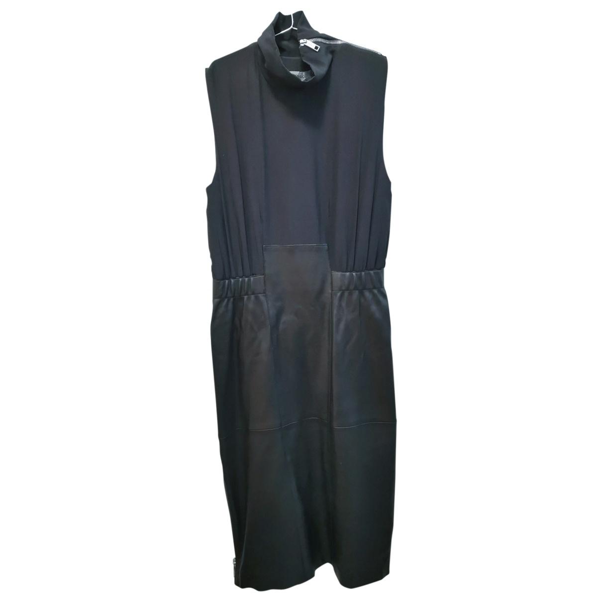Sport Max \N Kleid in  Schwarz Leder