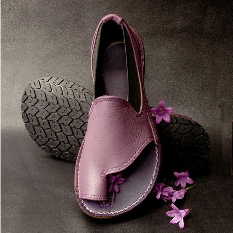 Ericdress PU Toe Ring Slip-On Women's Casual Flat Sandals