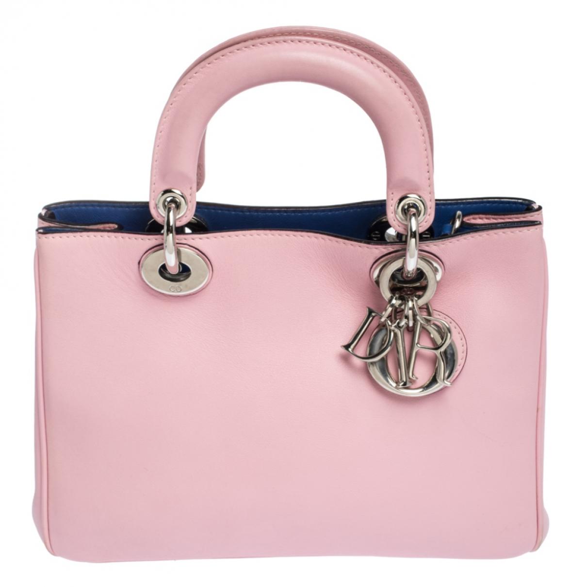 Dior Diorissimo Handtasche in  Rosa Leder