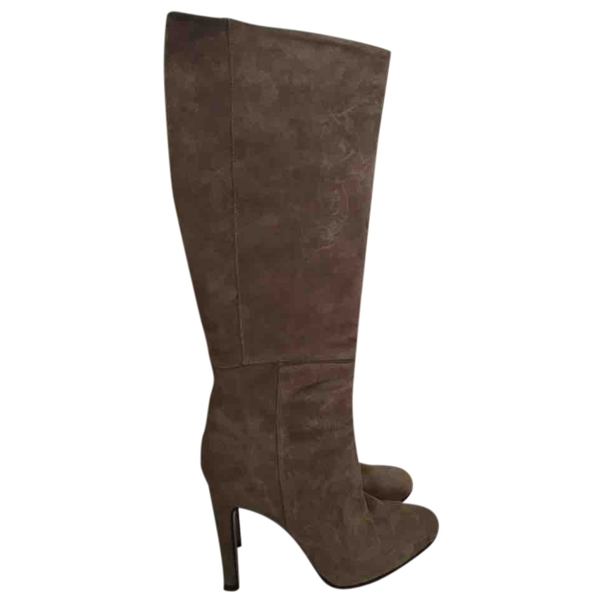 Non Signé / Unsigned \N Beige Suede Boots for Women 39 EU