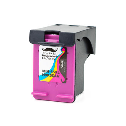 Remanufactured HP 65XL N9K03AN Tri-Color Ink Cartridge High Yield - Moustache�