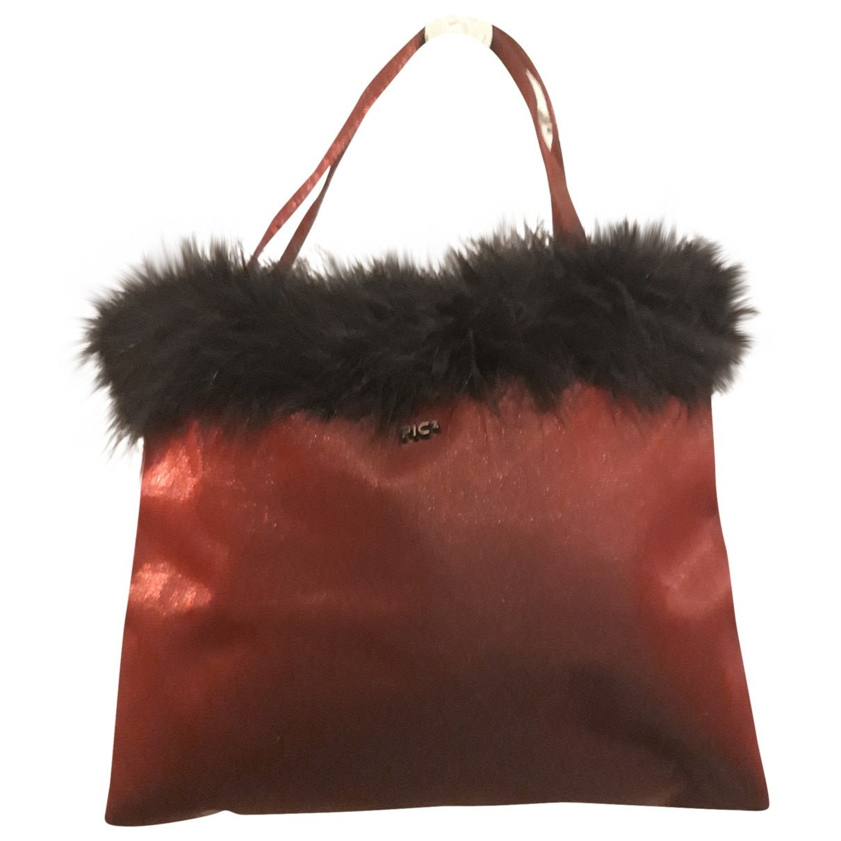Non Signé / Unsigned \N Burgundy Glitter handbag for Women \N