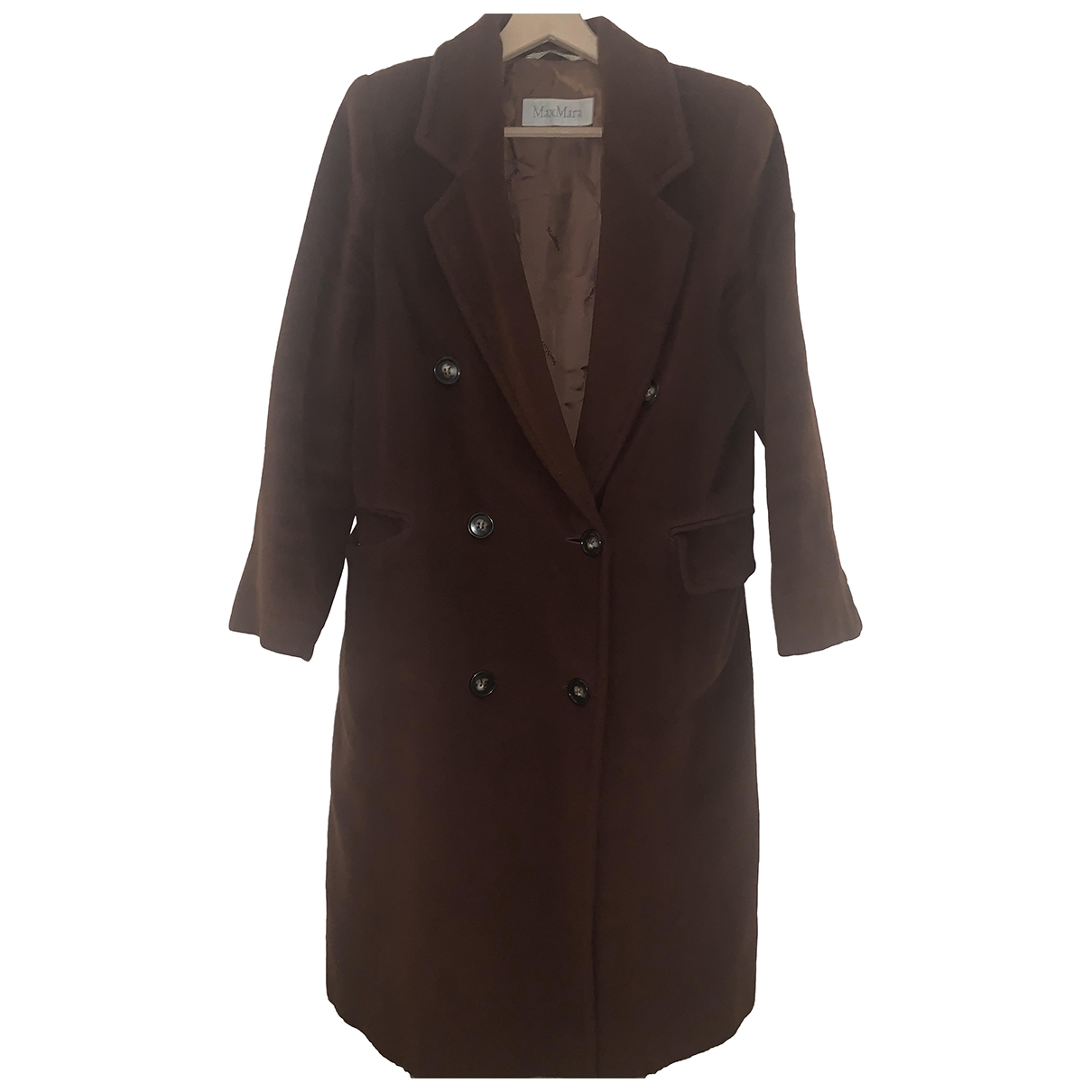 Max Mara - Manteau   pour femme en cachemire - marron
