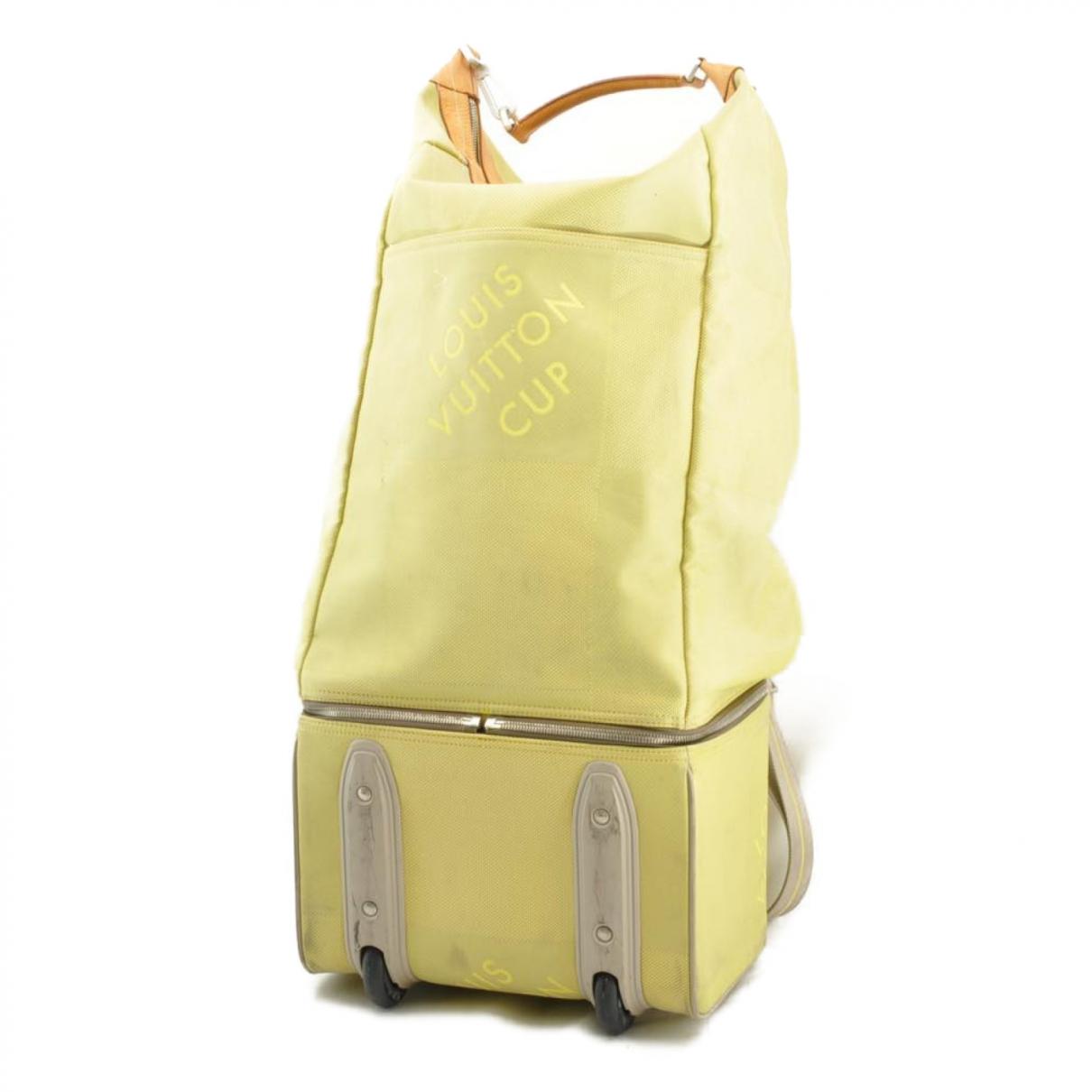 Louis Vuitton - Sac de voyage   pour femme en toile - jaune