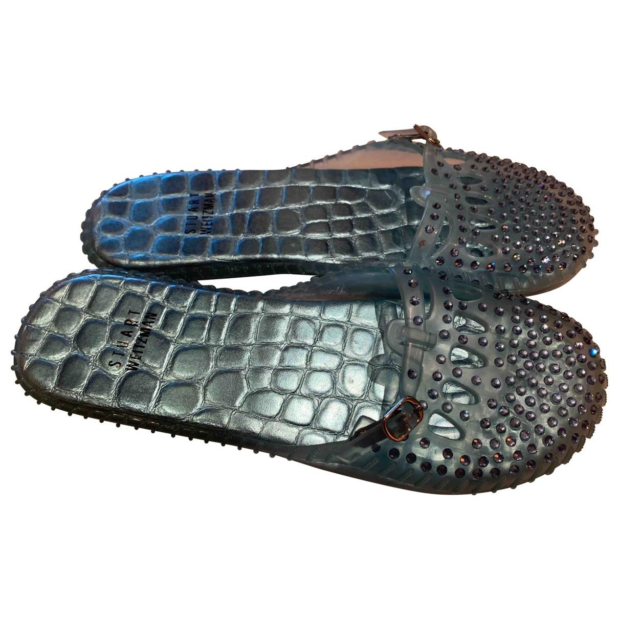 Stuart Weitzman \N Blue Rubber Sandals for Women 36 EU