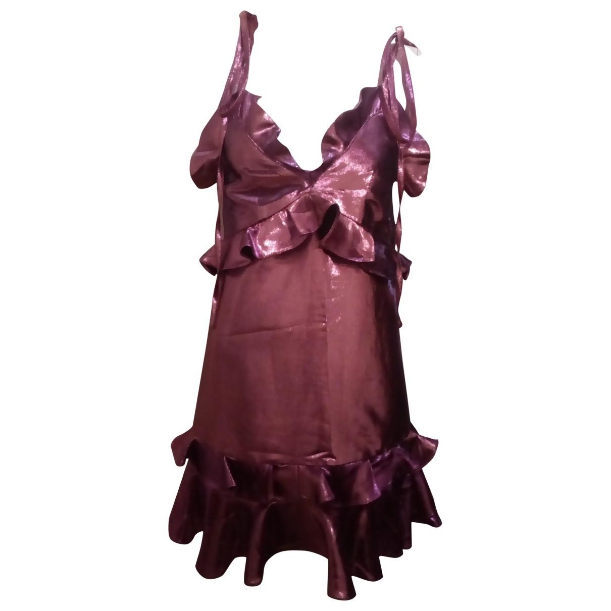Kenzo \N Kleid in  Metallic Synthetik