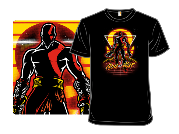 Retro War God T Shirt