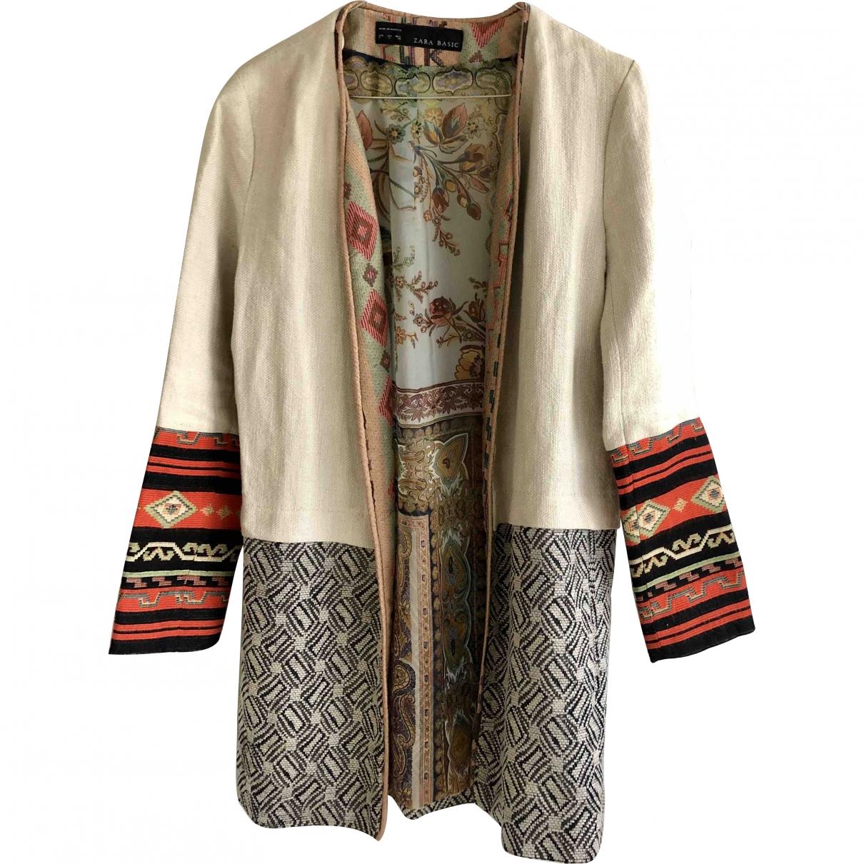 Zara \N Beige Linen jacket for Women S International
