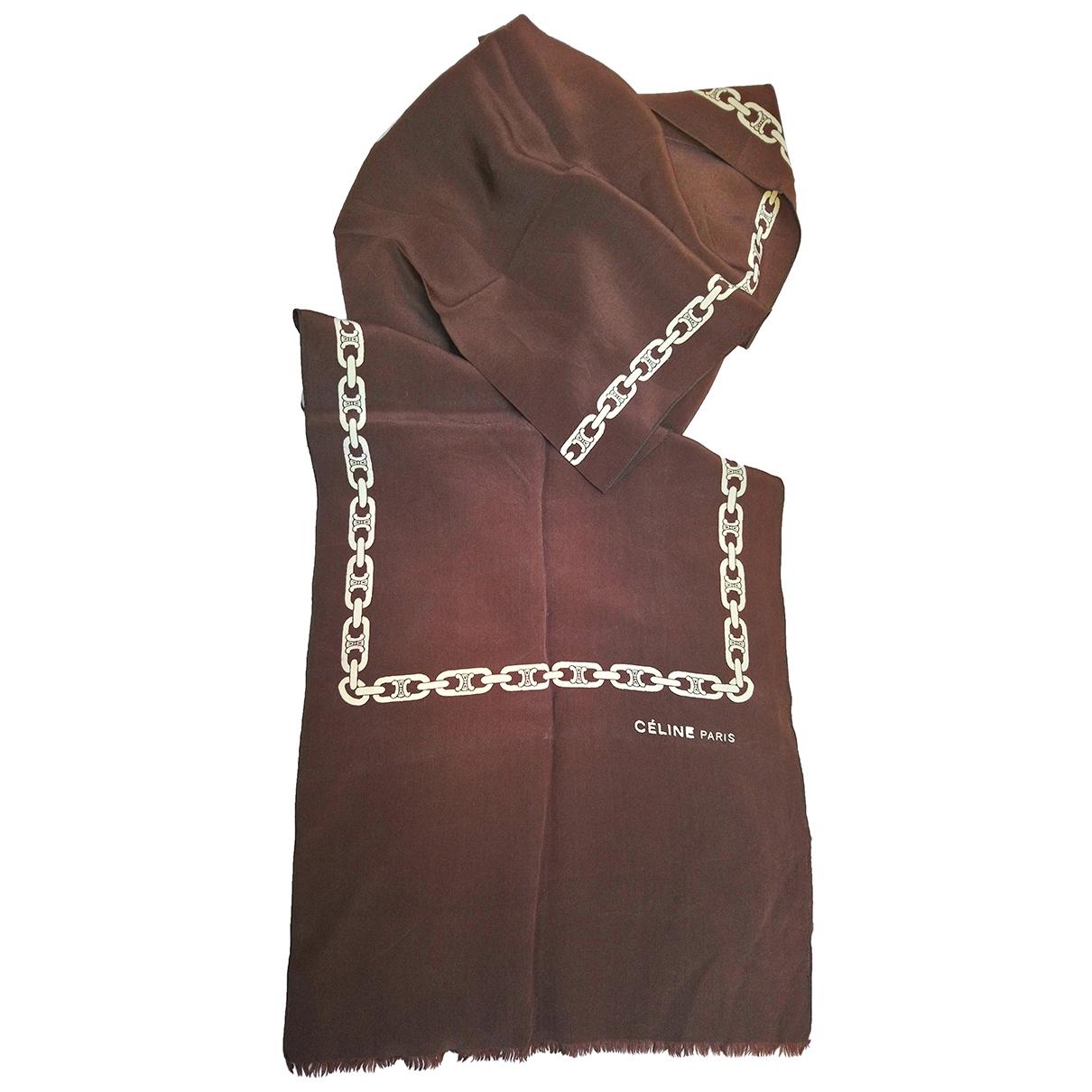 Celine - Foulard   pour femme en soie - marron