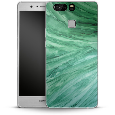 Huawei P9 Silikon Handyhuelle - Emerald von Becky Starsmore