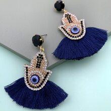 Blau  Glamouros Ohrringe