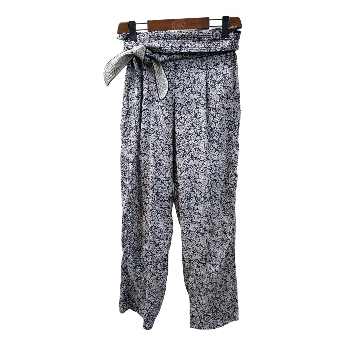 Pantalon recto de Seda Masscob