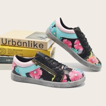 Floral Graphic Skate Shoes
