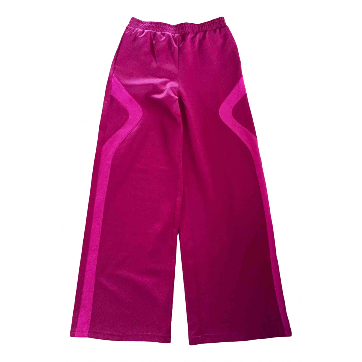 Maje \N Pink Spandex Trousers for Women 38 FR