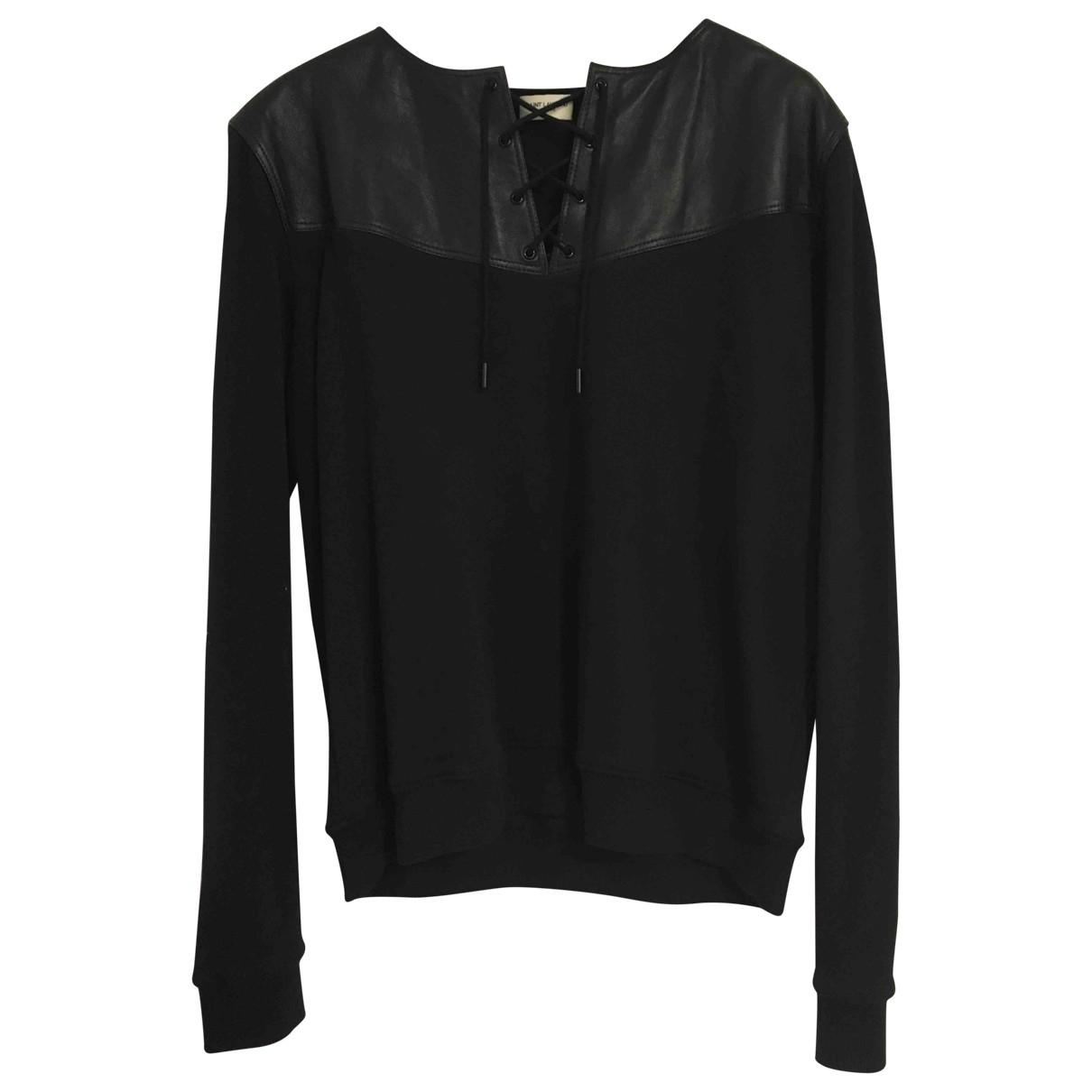 Saint Laurent - Pull   pour femme en coton - noir