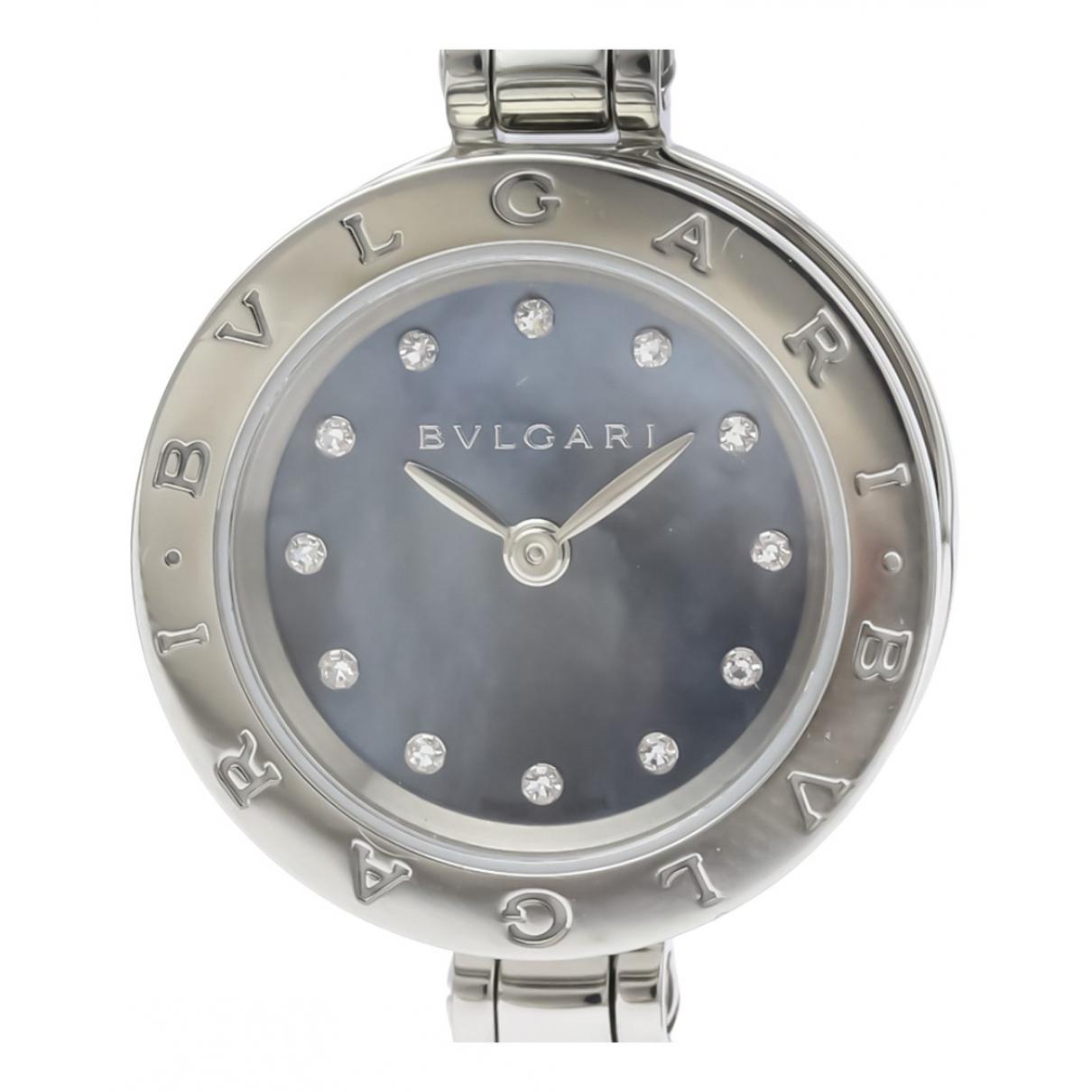 Bvlgari - Montre B.Zero1 pour femme en acier - bleu