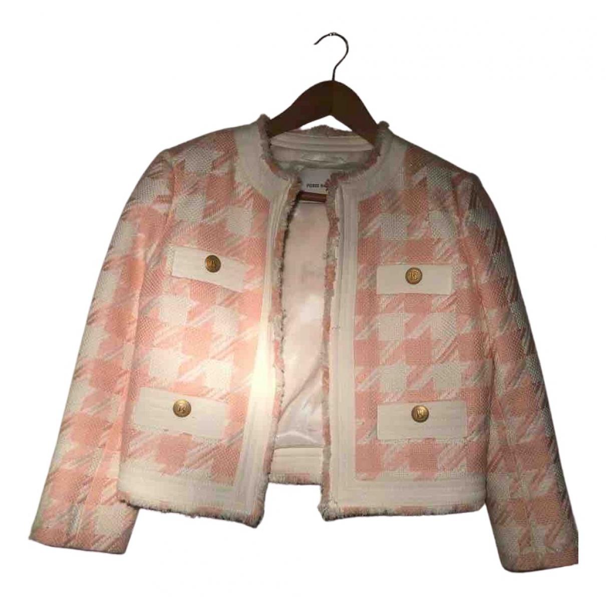 Pierre Balmain - Veste   pour femme en coton - rose