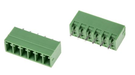 RS PRO , 6 Way, 1 Row, Straight PCB Terminal Block Header (10)