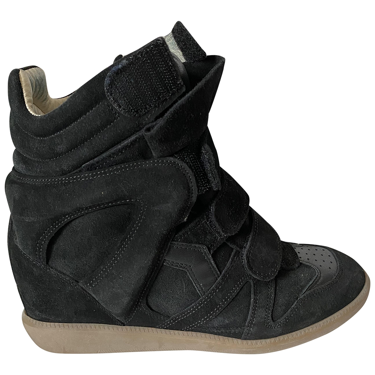 Isabel Marant Willow Black Suede Trainers for Women 38 EU