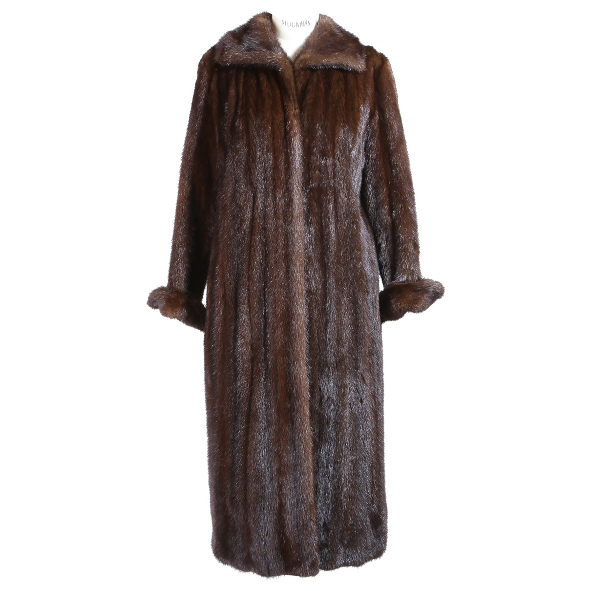 Non Signé / Unsigned Oversize Brown Mink coat for Women M International
