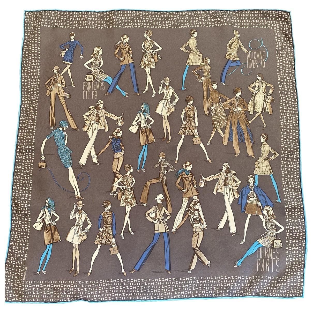 Hermès Gavroche 45 Brown Silk scarf for Women \N