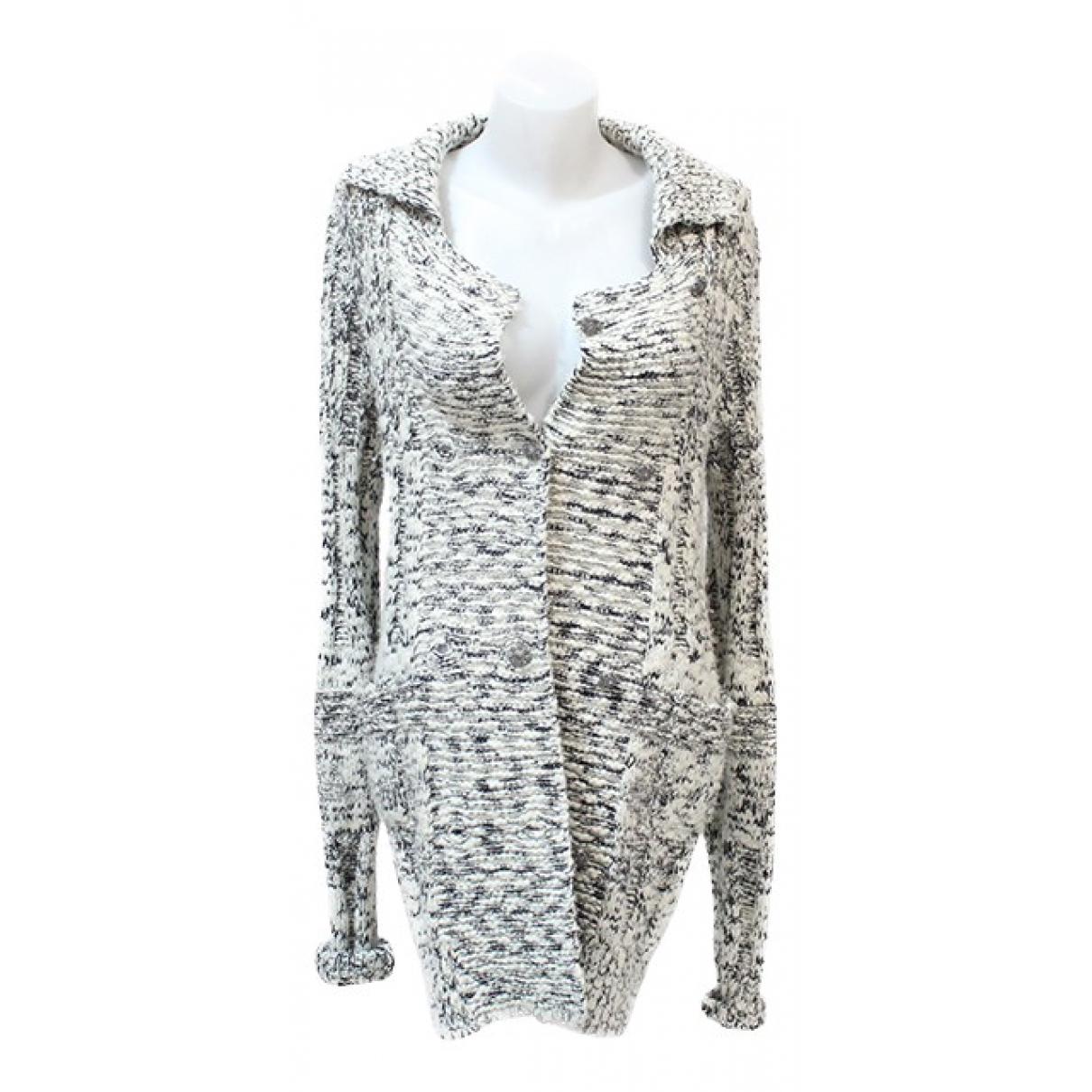 Chanel N White Cashmere Knitwear for Women 36 FR