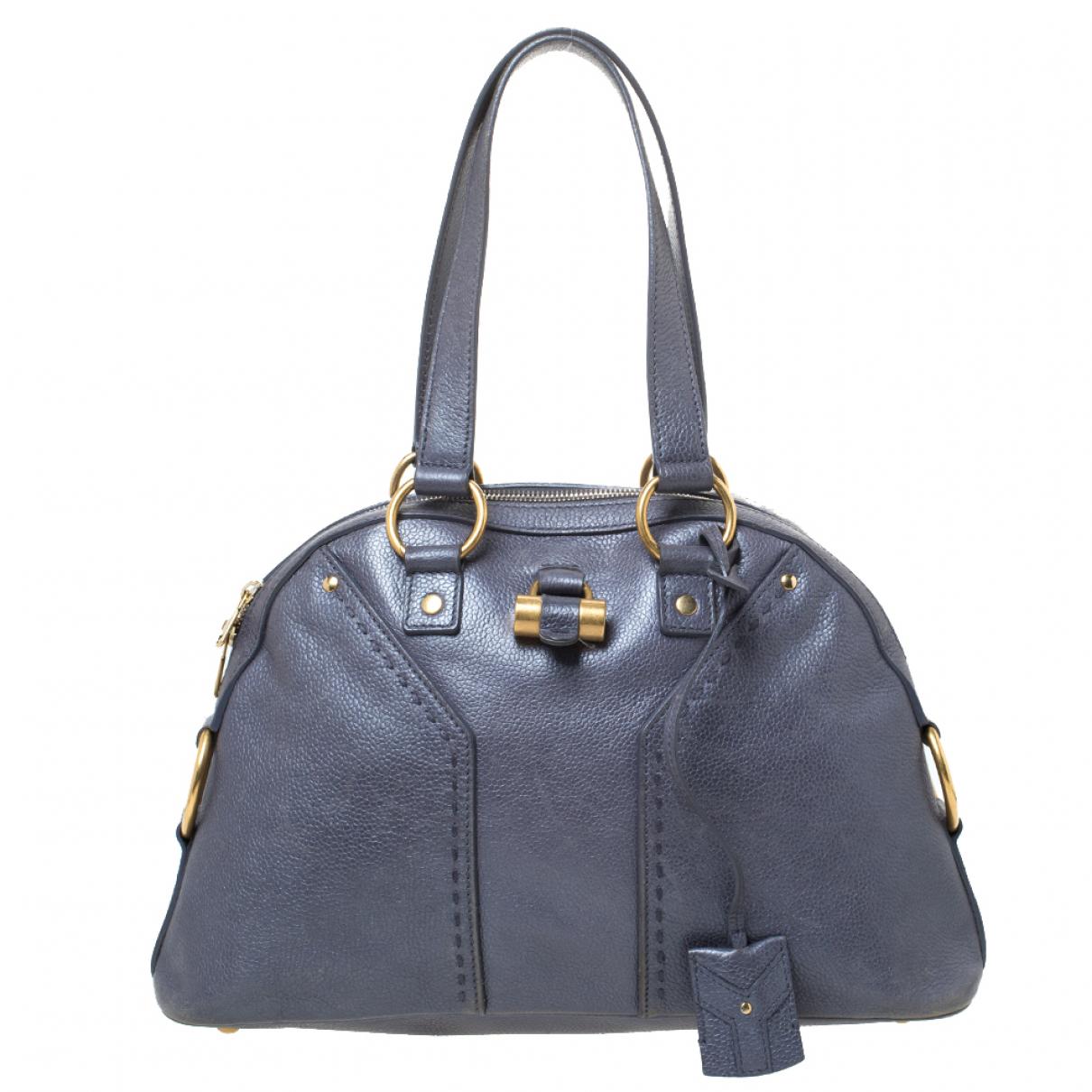Saint Laurent \N Grey Leather handbag for Women \N