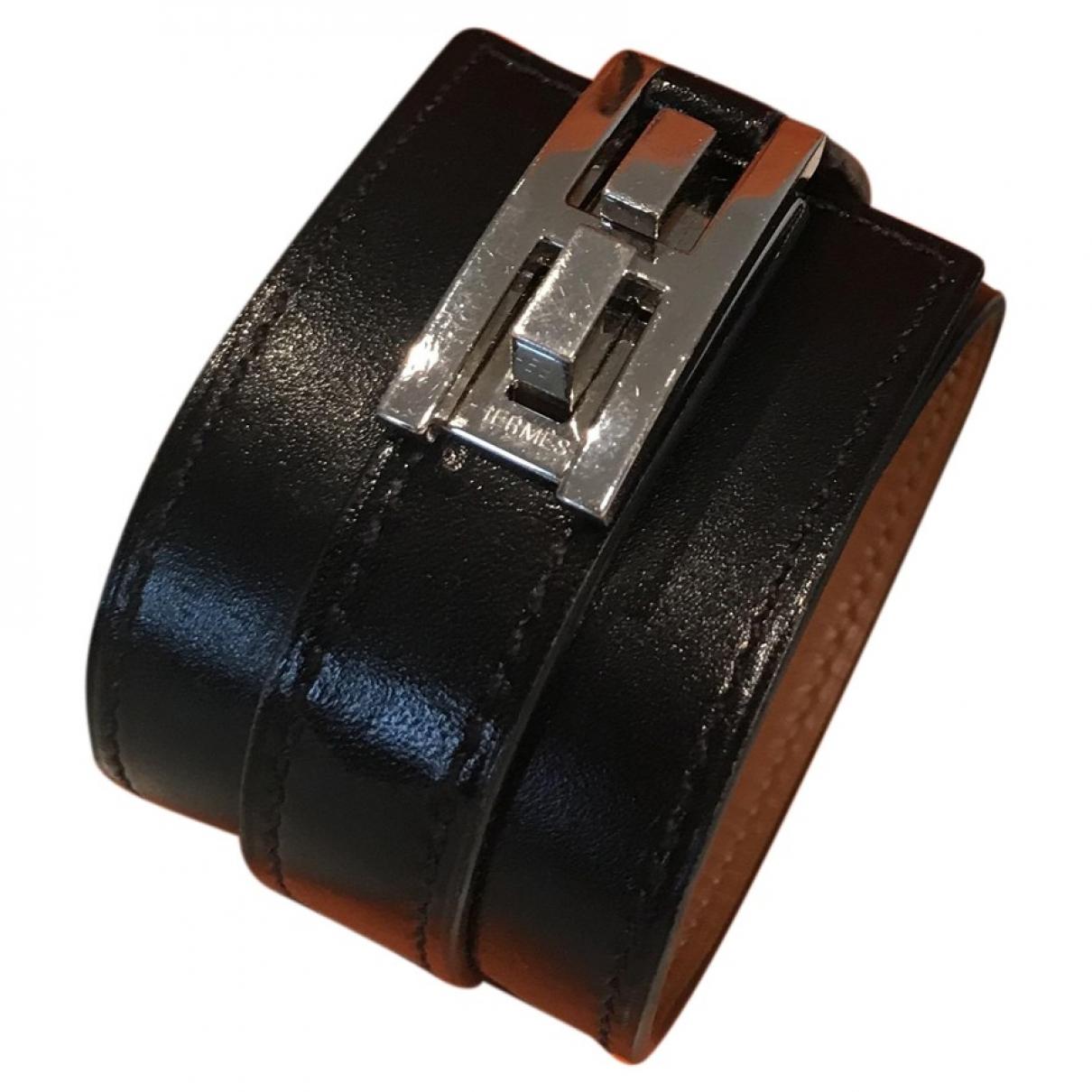 Hermes - Bracelet   pour femme en cuir - noir