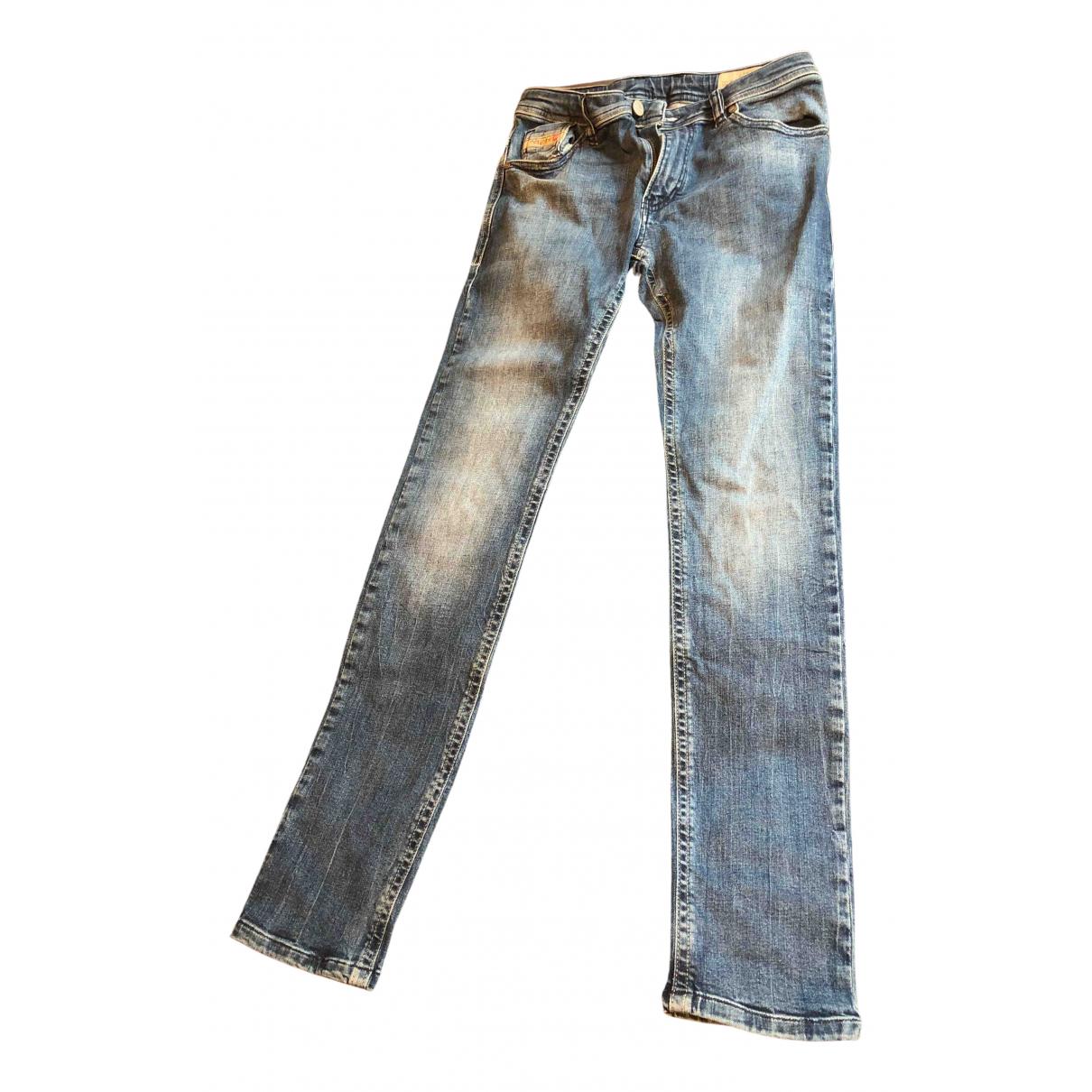 Diesel - Pantalon   pour enfant en coton - bleu