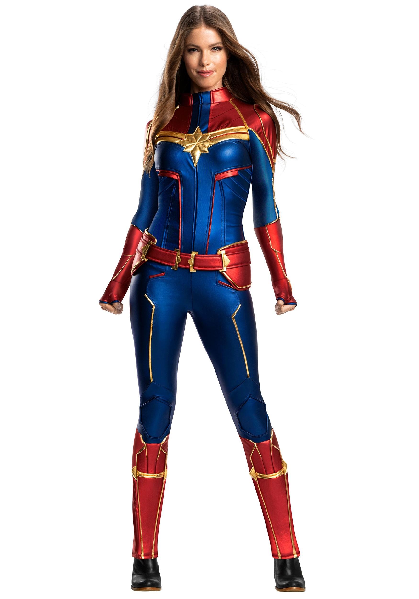 Women's Captain Marvel Grand Heritage Costume