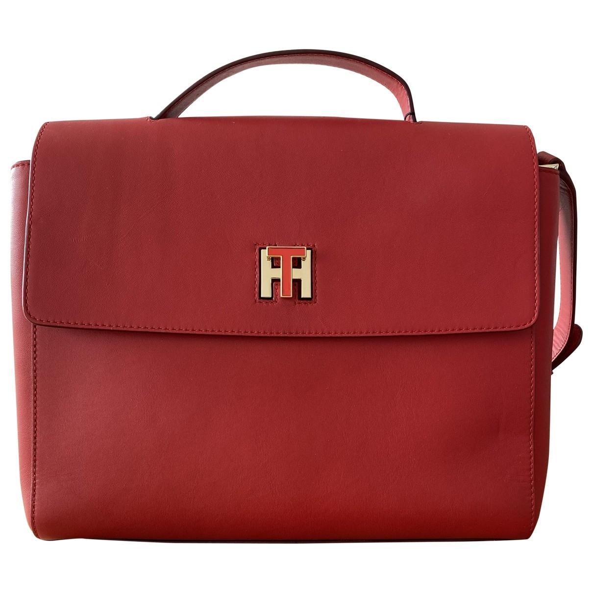 Tommy Hilfiger \N Red Leather handbag for Women \N