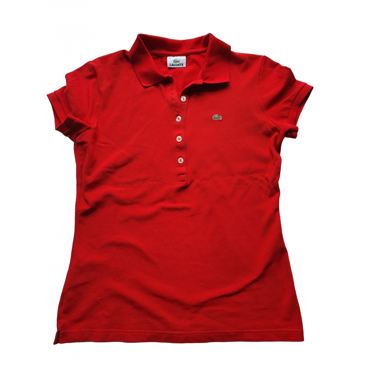 Lacoste \N Red Cotton  top for Women 32 FR