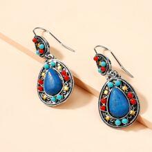 Stone Decor Drop Earrings