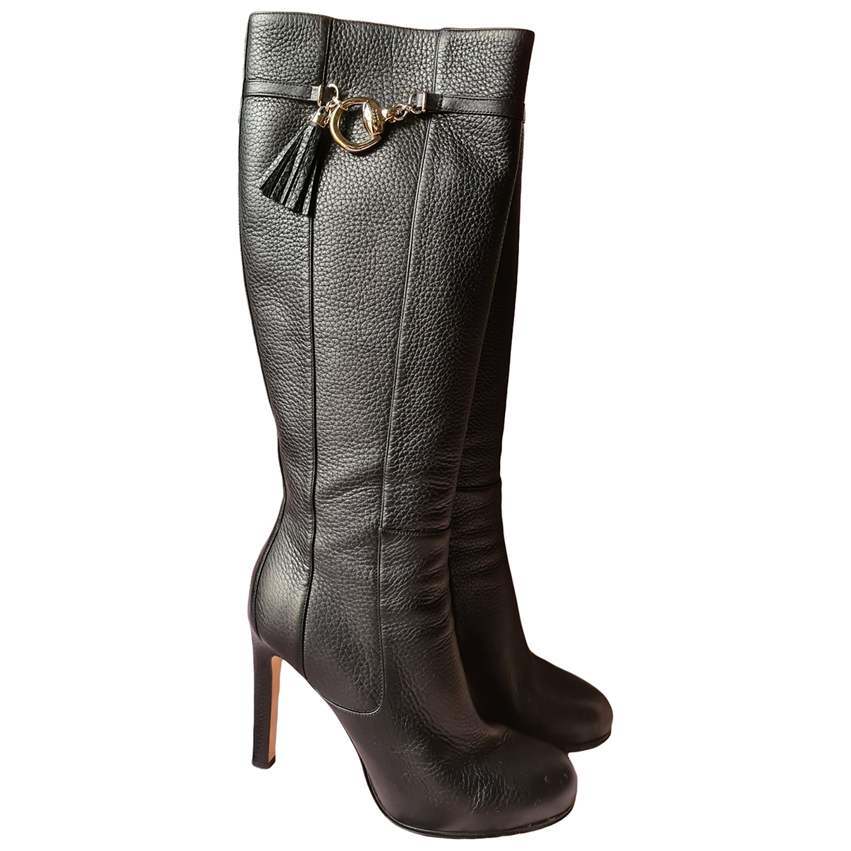Gucci \N Black Leather Ankle boots for Women 40 EU