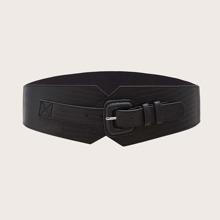 Cinturon con hebilla geometrica